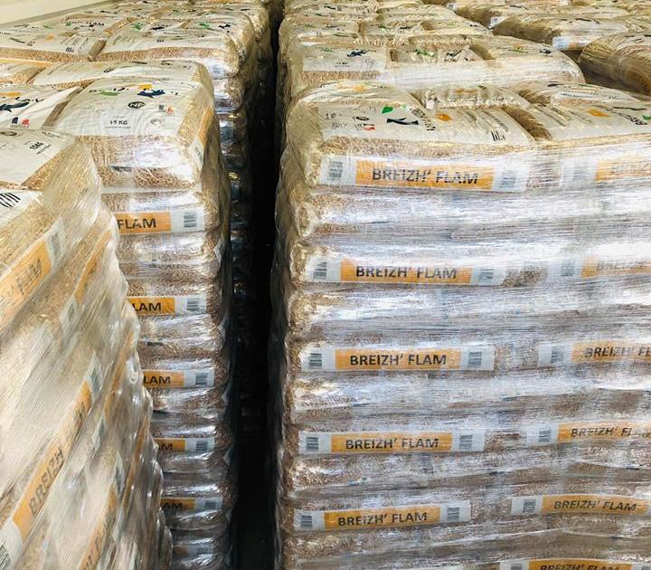 Stockage de pellets de bois