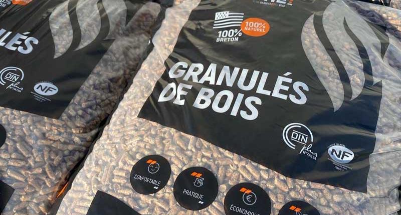 sacs de granulés de bois
